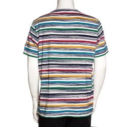 Missoni Mare Multicolor Striped Cotton T Shirt L
