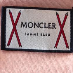 Moncler Gamme Bleu Pink Cotton Arm Stripe T-Shirt XL