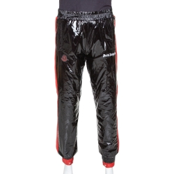 Moncler X Palm Angels Black Synthetic Logo Accented Joggers M