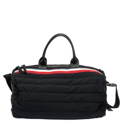 Moncler Black Neoprene and Leather Duffel Bag
