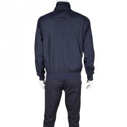 Moncler Navy Blue Contrast Trim Zip Front Darlan Windbreaker Jacket XL