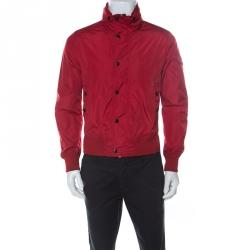 Moncler Red Zip Front Victor Blouson Jacket M