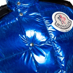 Moncler Genius Metallic Blue Palm Angels Quilted Down Vest M
