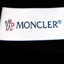 Moncler Black Cotton Knit Zipper Detail Shorts S
