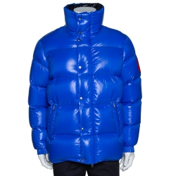 2 Moncler 1952 Blue Down Quilted Dervaux Puffer Jacket XL