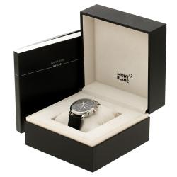 Montblanc Black Stainless Steel Tradition Men's Wristwatch 42 mm