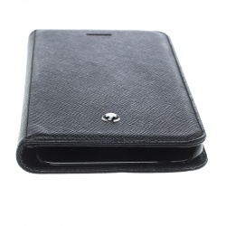 Montblanc Black Leather iPhone 7 Flip Case