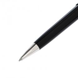Montblanc Meisterstuck Black Resin Silver Tone Ballpoint Pen