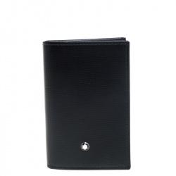 Montblanc Black Leather Meisterstuck Business Card Holder Set