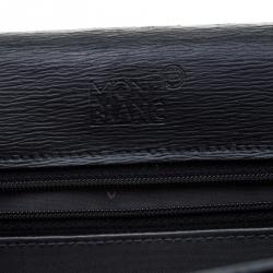 Montblanc Black Leather 4810 Westside Single Gusset Briefcase
