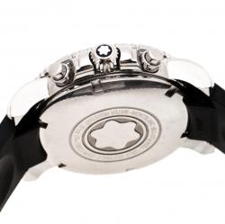 Montblanc Black Stainless Steel Sport XXL Chronograph 7034 Men's Wristwatch 41 mm