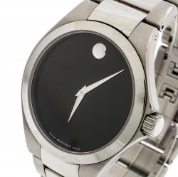 Movado Black Stainless Steel Defio Men's Wristwatch 40MM