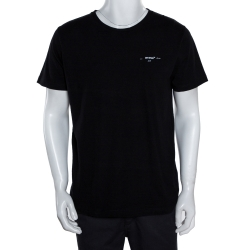 Off-White Black Cotton Arrow Logo Print T-Shirt M