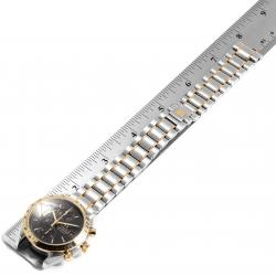 Omega Black 18K Yellow Gold And Stainless Steel Speedmaster Automatic 3313.50.00 Men's Wristwatch 39 MM