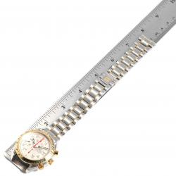 Omega Off White 18K Yellow Gold And Stainless Steel Speedmaster Automatic 3313.33.00 Men's Wristwatch 39 MM