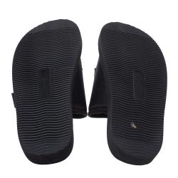 Palm Angels Black Fabric Suicoke Flat Sandals Size 42