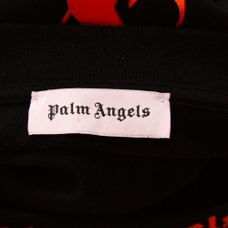 Palm Angels Black Cotton Neon Logo Print Long Sleeve T Shirt M