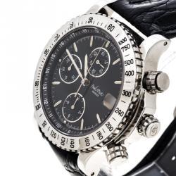 c3edc8946 ساعة يد رجالية بول بيكو لو كرونوغراف 613-400-4003 ستانلس ستيل سوداء 39مم