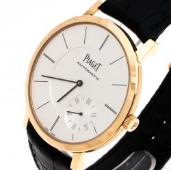 Piaget Silver 18K Rose Gold Altiplano Men's Wristwatch 43MM