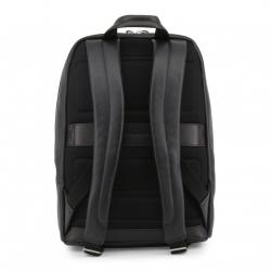 Piquadro Black Leather Backpack