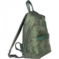 Piquadro Green Camouflage Nylon Backpack