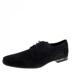 Prada Black Suede Lace Up Derby Size 42.5 ab4bdcaec46