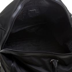 Prada Black Nylon and Saffiano Leather Trim Duffel Bag