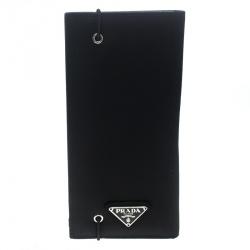 Prada Black Nylon Continental Wallet 6a4dd501a02af