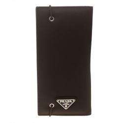 Prada Dark Brown Nylon Continental Wallet 8e64cabb97c27