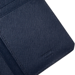 Prada Blue Saffiano Lux Leather Continental Wallet