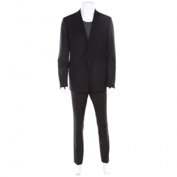 547228cb0fce Prada Black Wool and Mohair Tailored Suit 2XL