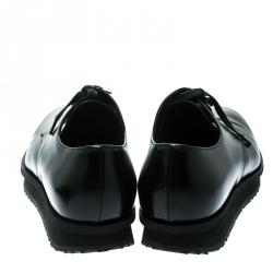 Prada Black Leather Derby Sneakers Size 42