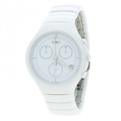 4c009f030 Rado True White Ceramic Chronograph Jubilee 541.0832.3.001 Men's Wristwatch  44 mm
