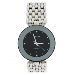 d6c15dee4 Rado Black Stainless Steel Florence 01.129.3742.4.015 Men's Wristwatch 32 mm