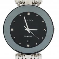 Rado Black Stainless Steel Florence 01.129.3742.4.015 Men's Wristwatch 32 mm