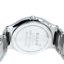 Rado Silver Grey Stainless Steel Florence 129.3755.4 Men's Wristwatch 33 mm