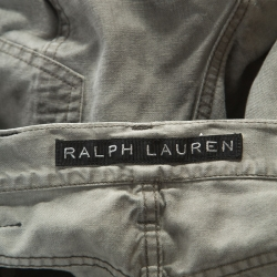 Ralph Lauren Grey Washed Out Denim Slim Fit Cargo Pants S