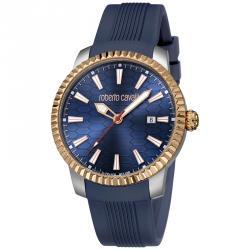 Roberto Cavalli Navy Rose Gold Plated Stainless Steel RV1G026P0041 Men's Wristwatch 42MM