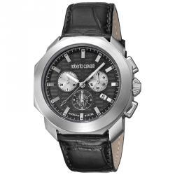 Roberto Cavalli Black Stainless Steel RV1G044L0021 Men's Wristwatch 44MM