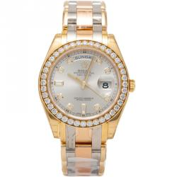 Rolex Tridor Gold Pearlmaster Special Edition Daydate Watch 39MM