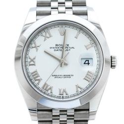 Rolex White Stainless Steel Datejust M126300-0016 Men's Wristwatch 41 mm