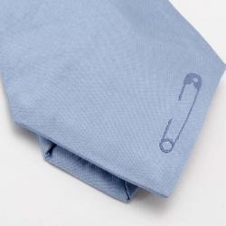 Yves Saint Laurent Blue Silk Tie