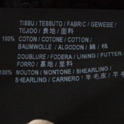 Saint Laurent Paris Black Shearling Lined Distressed Denim Jacket XL