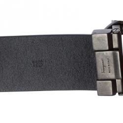 Salvatore Ferragamo Black Leather Gancini Belt 115cm
