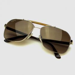 Salvatore Ferragamo Shiny Gold SF107S Mens Sunglasses
