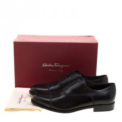 Salvatore Ferragamo Black Leather Guru Francesina Oxfords Size 45