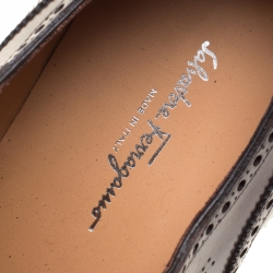Salvatore Ferragamo Special Edition Wine Brogue Leather Trieste Oxfords Size 44