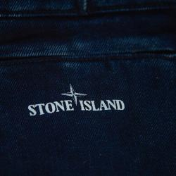 Stone Island Navy Blue Denim Cargo Pocket Detail Jeans M
