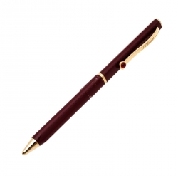 S.T. Dupont Mon Dupont Burgundy Lacquer Gold Finish Ballpoint Pen