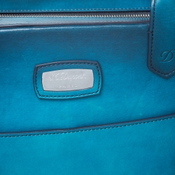 S.T. Dupont Blue Ombre Leather Atelier Document Briefcase